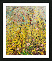 Symphony in Yellow Panel 2 Picture Frame print