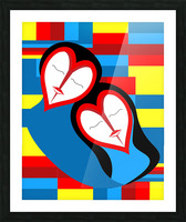 Hearts in Love Picture Frame print