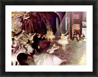 Stage trial by Degas Picture Frame print