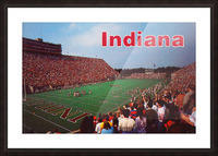 1986 Indiana Football Memorial Stadium Picture Frame print