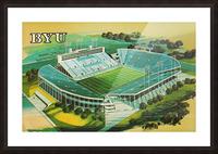 1982 BYU Cougar Stadium Art Picture Frame print