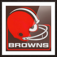 Retro Cleveland Browns Helmet Art Picture Frame print