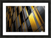 Yellow wall Picture Frame print