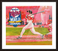 1988 Minnesota Twins Baseball Art Picture Frame print