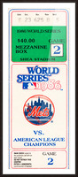 1986 New York Mets World Series Ticket Wall Art Picture Frame print