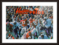 1979 Indiana Hoosiers Football Art Picture Frame print