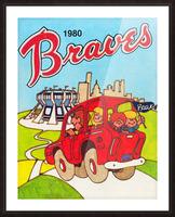 1980 Atlanta Braves Poster Picture Frame print