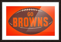 Vintage Cleveland Browns Football Art Picture Frame print