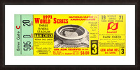1971 World Series Ticket Stub Wall Art Picture Frame print