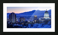 Utah State Capitol Sunset Salt Lake City Government Architecture Photography Historic Lights Night Fine Art Photo Print  Wall Decor Picture Frame print