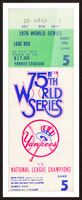 1978 World Series Ticket Art Picture Frame print