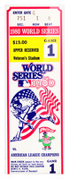 198o World Series Ticket Art Game 1 Picture Frame print