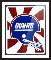 Retro New York Giants Helmet Art Picture Frame print
