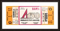 1981 Alabama Football Ticket Canvas Art Picture Frame print