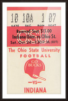 1981 Ohio State vs. Indiana Picture Frame print