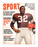 1964 Sport Magazine Jim Brown Cover Art Picture Frame print