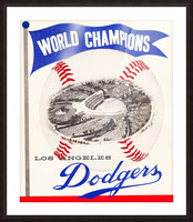 1960 Los Angeles Dodgers Baseball Art Picture Frame print
