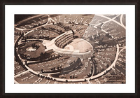 1959 Dodger Stadium Architecture Drawing Picture Frame print