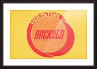 1972 Houston Rockets Art Picture Frame print