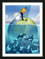 Clean the Planet Picture Frame print