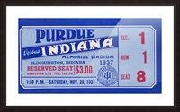 1937 Indiana vs. Purdue Ticket Stub Art Picture Frame print