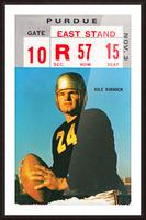 1973 Iowa Hawkeyes Nile Kinnick Ticket Stub Picture Frame print