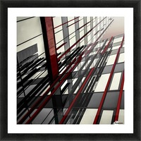 red lines by Gilbert Claes  Picture Frame print