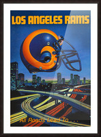 1983 Los Angeles Rams Football Poster Picture Frame print