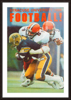 1986 Syracuse Football Poster Picture Frame print
