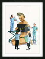 Healthcare is a Business Picture Frame print