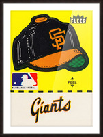 1981 San Francisco Giants Fleer Decal Poster Picture Frame print