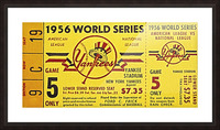 1956 World Series Perfect Game Ticket Stub Art Picture Frame print