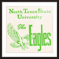 Vintage North Texas State University Eagles Art Picture Frame print