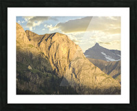 Golden Rays of the Sun on the Swiss Alps in the Bernese Highlands Picture Frame print