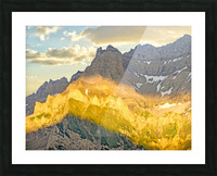 Golden Rays of the Sun Across the Swiss Alps Picture Frame print