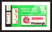 1973 Georgia vs. Pittsburgh Ticket Wall Art Picture Frame print