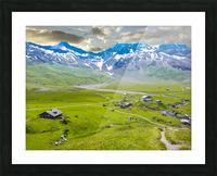 High Alps Village in Spring Switzerland Picture Frame print