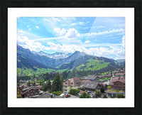 Beautiful Day in the Swiss Alps Picture Frame print