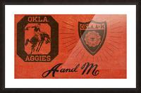 Vintage Oklahoma A&M OSU Cowboys Art Picture Frame print