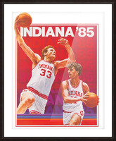 1985 Indiana Hoosiers Basketball Art Picture Frame print