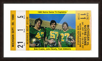 1980 Notre Dame vs. Michigan Picture Frame print