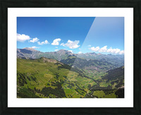 Swiss Highlands View to Forever Picture Frame print
