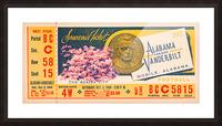 1948 Vanderbilt vs. Alabama Ticket Art Picture Frame print