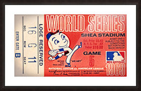 1969 New York Mets Game 5 Ticket Art Impression et Cadre photo