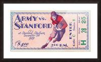 1929 Stanford Football Ticket Stub Art Picture Frame print