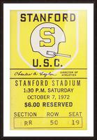 1972 Stanford vs. USC Ticket Stub Art Picture Frame print