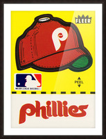 1981 Phillies Fleer Decal Wall Art Picture Frame print