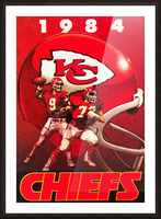 1984 Kansas City Chiefs Football Poster Picture Frame print