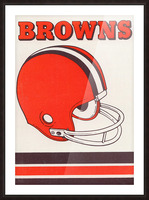 1975 Cleveland Browns Helmet Art Picture Frame print