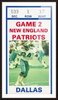 1982 Dallas Cowboys Ticket Stub Wall Art Picture Frame print